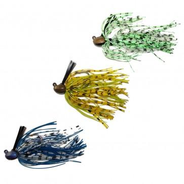 Custom Weedless Bass Jig Lot Of 3 3/8 oz Living Rubber 4/0