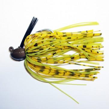 Custom Weedless Bass Jig 3/8 oz Living Rubber 4/0