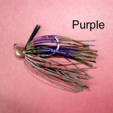 Rubber Jigs 1/4 oz VMC HOOK-Purple