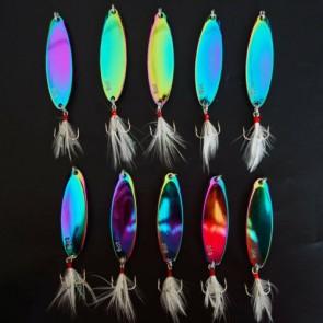 10X Kastmaster Style 3/4 oz Silver Fishing Spoon, great for Trout,Bass Konoaknne