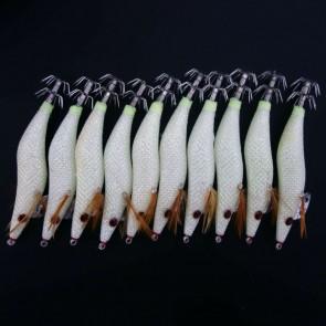 10x 3.5 White Squid Jigs