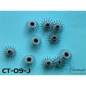 CT-09-J Stainless Steel Squid Hooks 10pcs