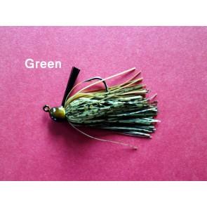 Rubber Jigs 1/4 oz VMC HOOK-Green